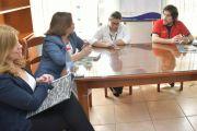 DIRECTIVOS DE ITAIPU VERIFICAN EL CONSERVATORIO BELLAS ARTES UNE PARA INCLUIR MEJORAS
