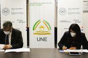 La UNE y Secretaría Técnica de Planificación  trabajarán en capacitación de talentos humanos