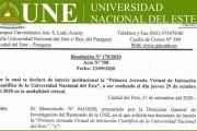 Primera Jornada Virtual de Iniciación Científica de la Universidad Nacional del Este